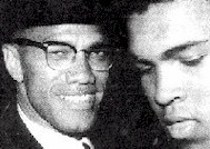 Malcolm X con Mohammed Alì (Cassius Clay9