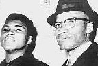 Malcolm X and Muhammad Alì