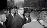 Malcolm X in the crowd